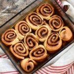 This date-sweetened vegan sourdough cinnamon rolls is a healthy alternative.