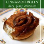 How to make vegan sourdough cinnamon rolls. Ooey, gooey, delicious!