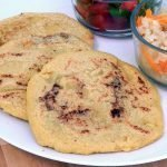 Salvadoran bean and cheese pupusas