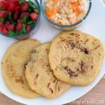 Gluten free bean and cheese pupusas