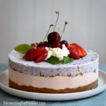 How to make a healthy ice cream cake using sugar-free, low fat or probiotic ice cream.