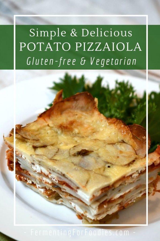 Vegan, gluten-free, grain-free potato pizzaiola