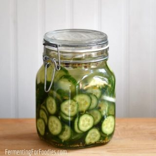 How to make fermented bread and butter pickles for a zero-waste and probiotic pickle