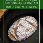 Amazingly delicious whole-grain gluten-free and vegan sourdough bread