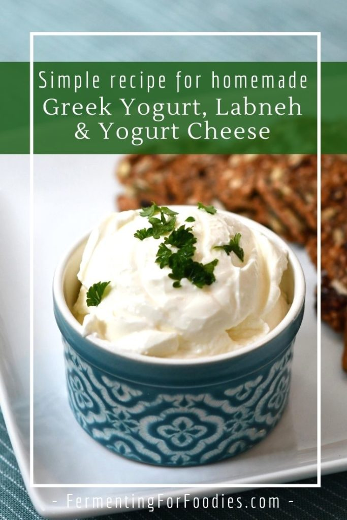 What is the difference between Greek yogurt, labneh and yogurt cheese