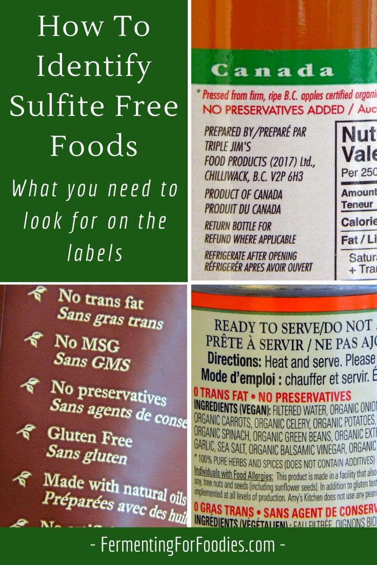 Why you should avoid sulfites and other preservatives