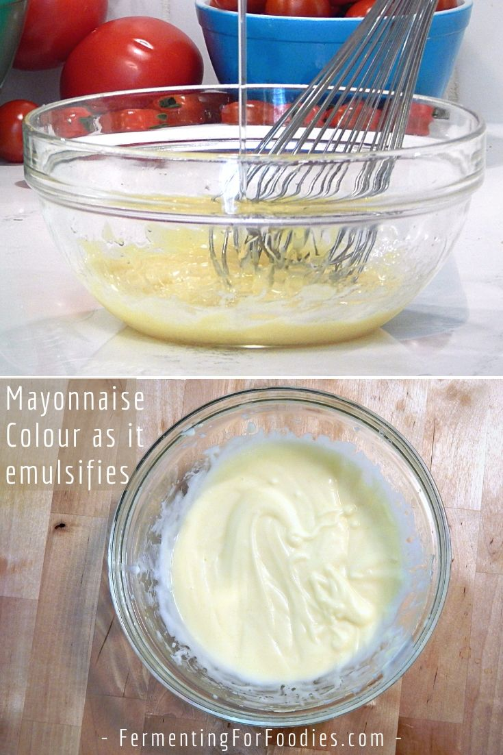 Healthy homemade mayonnaise is sugar free, preservative free and probiotic