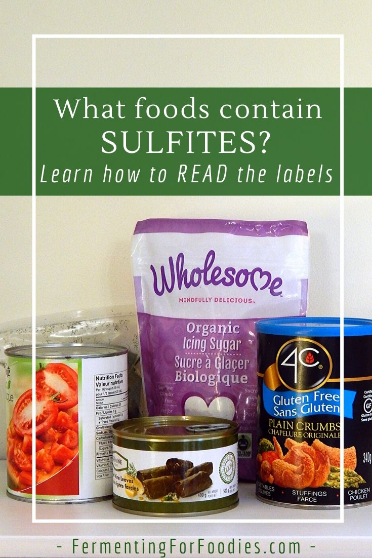 How do you know if there are sulfites in food - natural and chemical preservatives