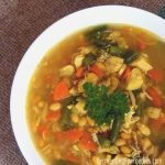 Immune boosting chicken soup with turmeric, garlic and miso