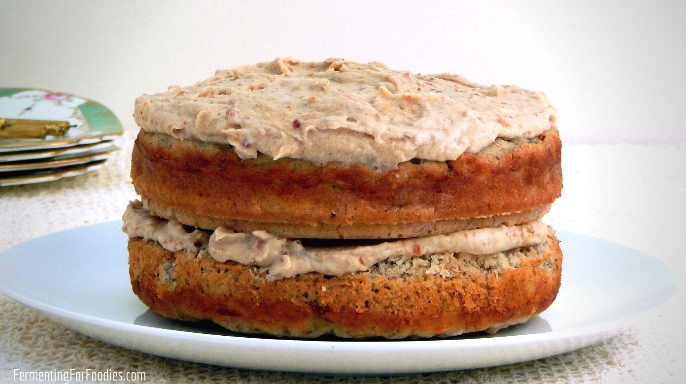 Enjoyable A Healthy And Sugar Free Banana Cake Fermenting For Foodies Funny Birthday Cards Online Alyptdamsfinfo
