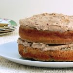 Naturally-sweetened, sugar-free banana cake layered with date frosting
