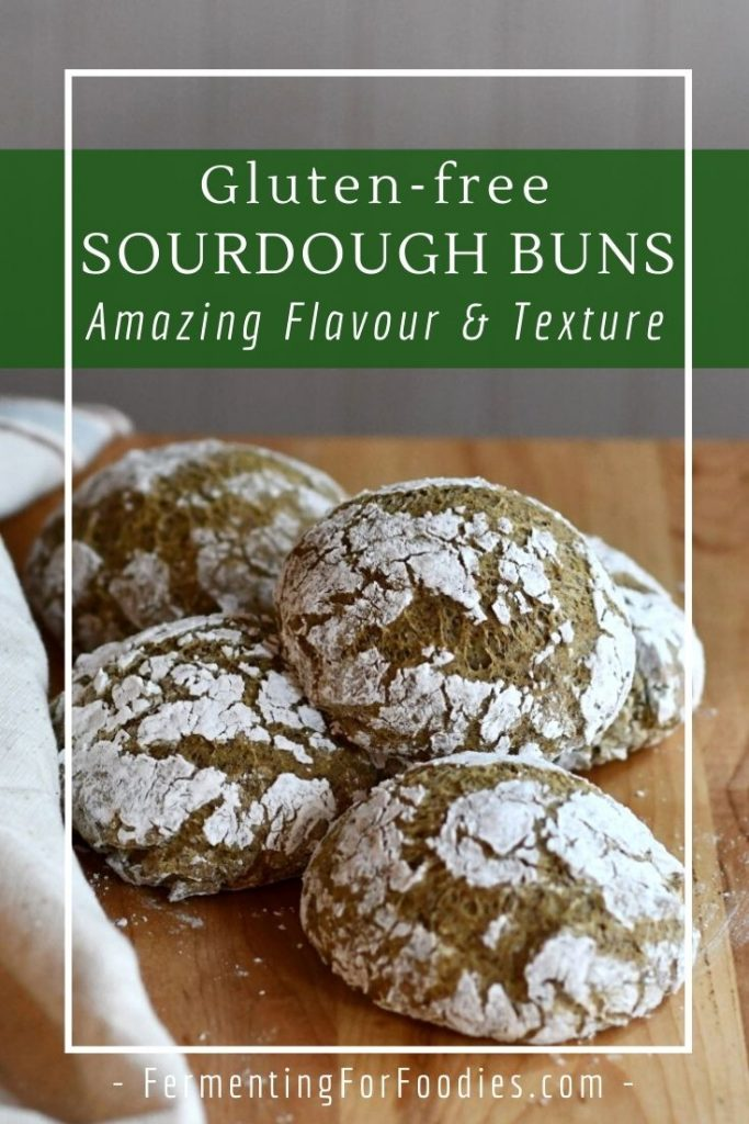 You'll never buy bread again with this gluten-free sourdough buns recipe. Perfect with soup for dinner.