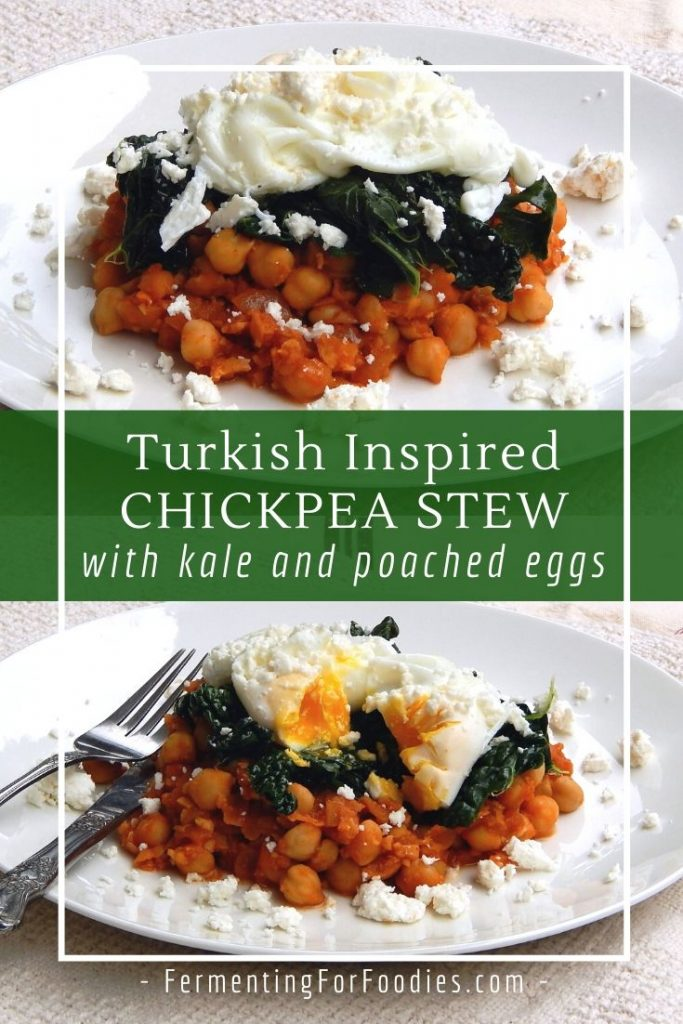 Turkish chickpea stew is a delicious and healthy breakfast option. Perfect with poached eggs