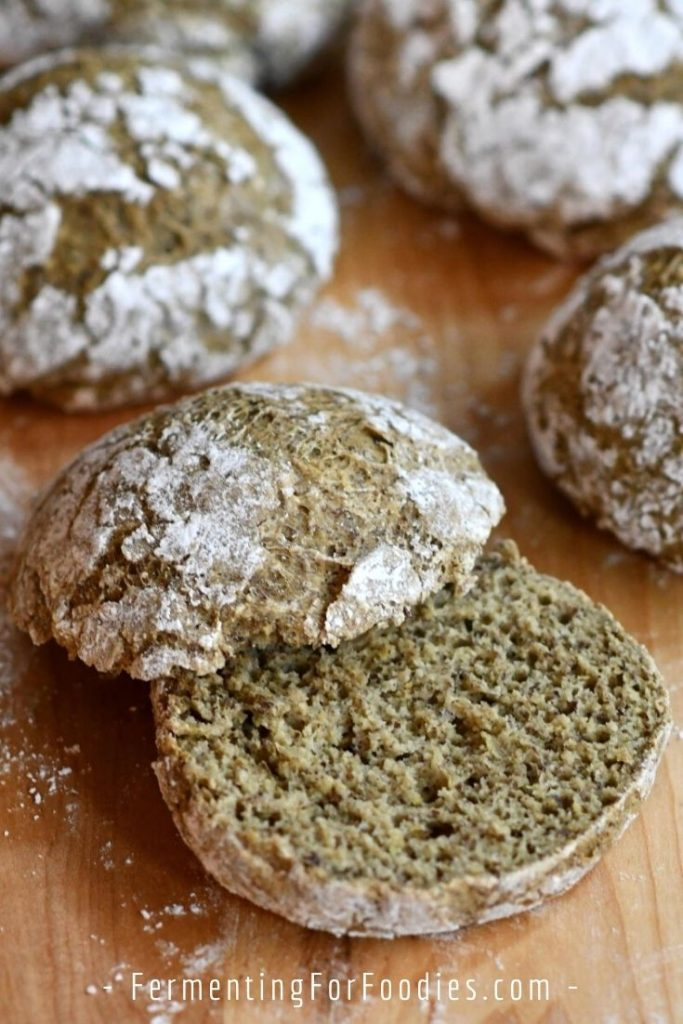 Amazing gluten-free sourdough buns -perfect for hamburgers, hot dogs and sandwiches