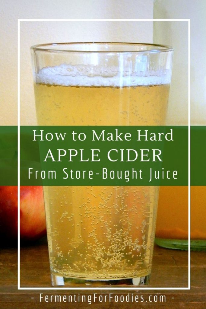 How to turn a bottle of juice into hard apple cider in just 4 weeks