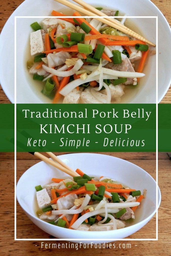 Pork belly kimchi soup is keto, gluten free, delicious and simple