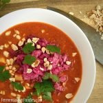 African peanut stew with beans, sweet potatoes, greens or sauerkraut for a probiotic twist