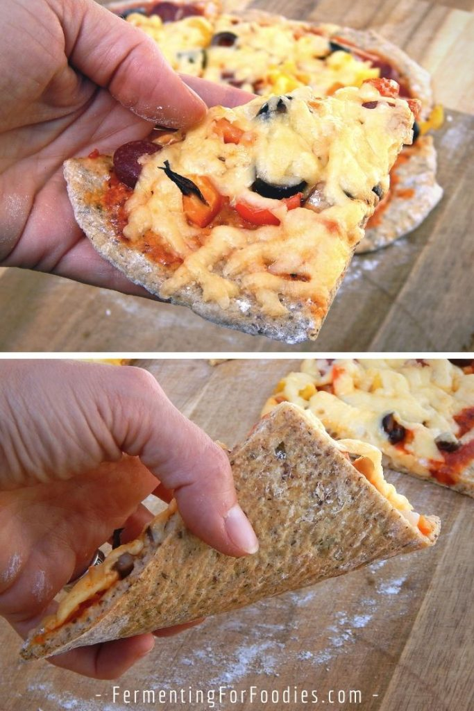 The best gluten-free sourdough pizza crust - Full of flavour, soft and chewy