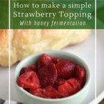 Fermented strawberries are perfect as a jam, topping or cordial