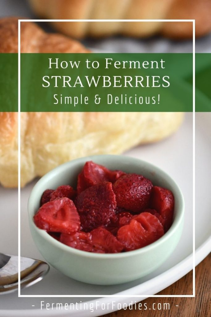 How to make fermented strawberries with honey, ginger bug, ACV, kombucha or whey