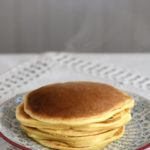 Simple sourdough pancakes recipe with chocolate chips, strawberries, blueberries and more!