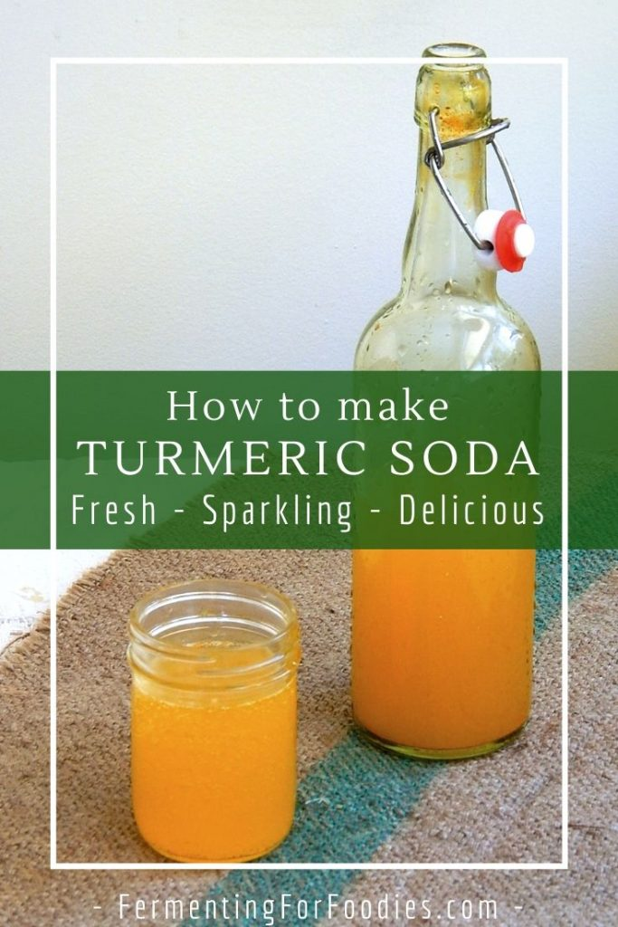 How to make your own fermented turmeric sodas