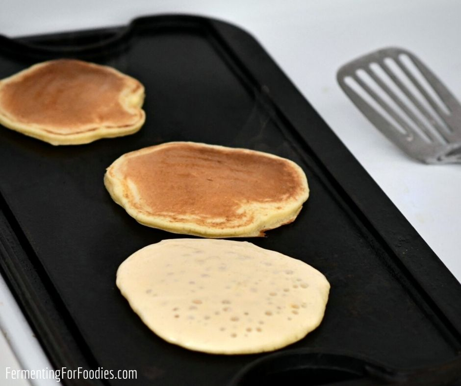 Why sourdough pancakes are the best way to use up extra sourdough starter.