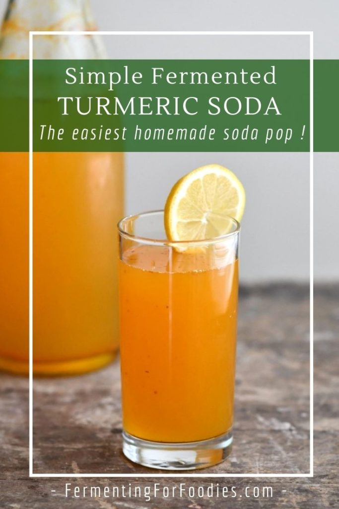 How to make fermented turmeric soda with turmeric bug