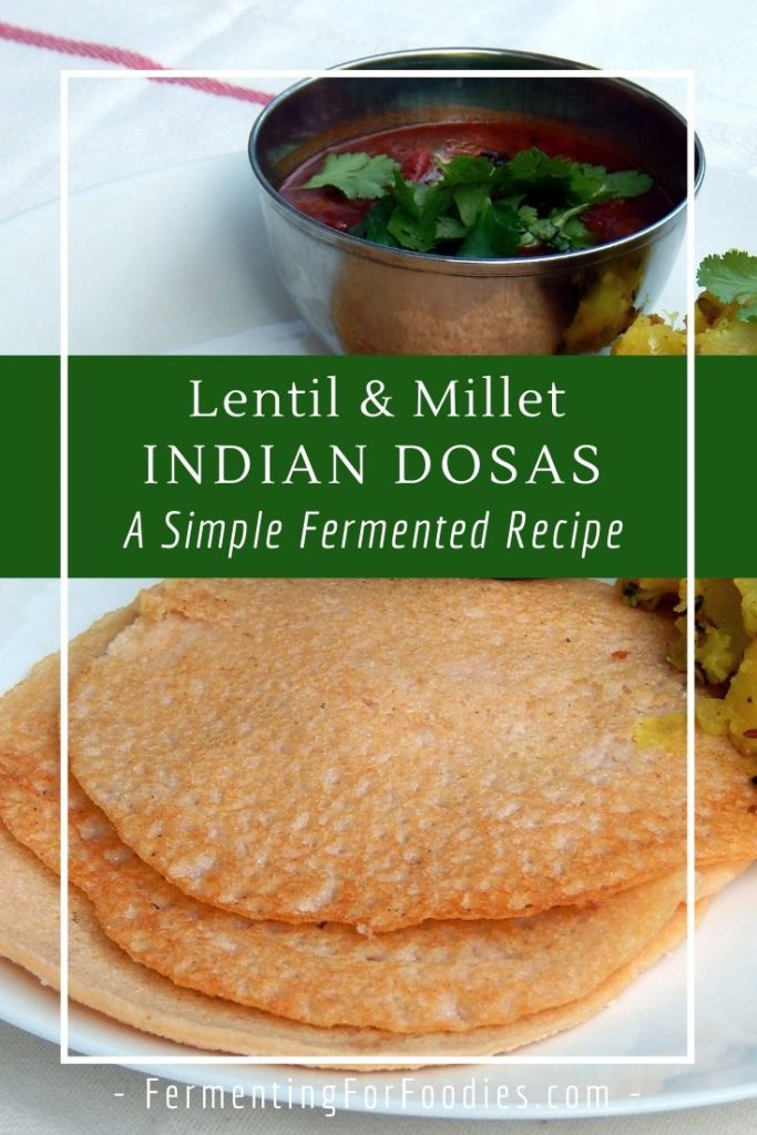 Simple and delicious lentil and millet dosas an alternative to rice