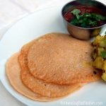 Sourdough fermented red lentil and millet dosas