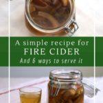 How to make and use fire cider - A no-honey recipe