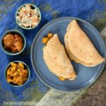 Fermented lentil and millet dosa is a healthy option for breakfast or dinner.