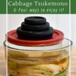 How to make a simple Japanese pickle press for cabbage tsukemono
