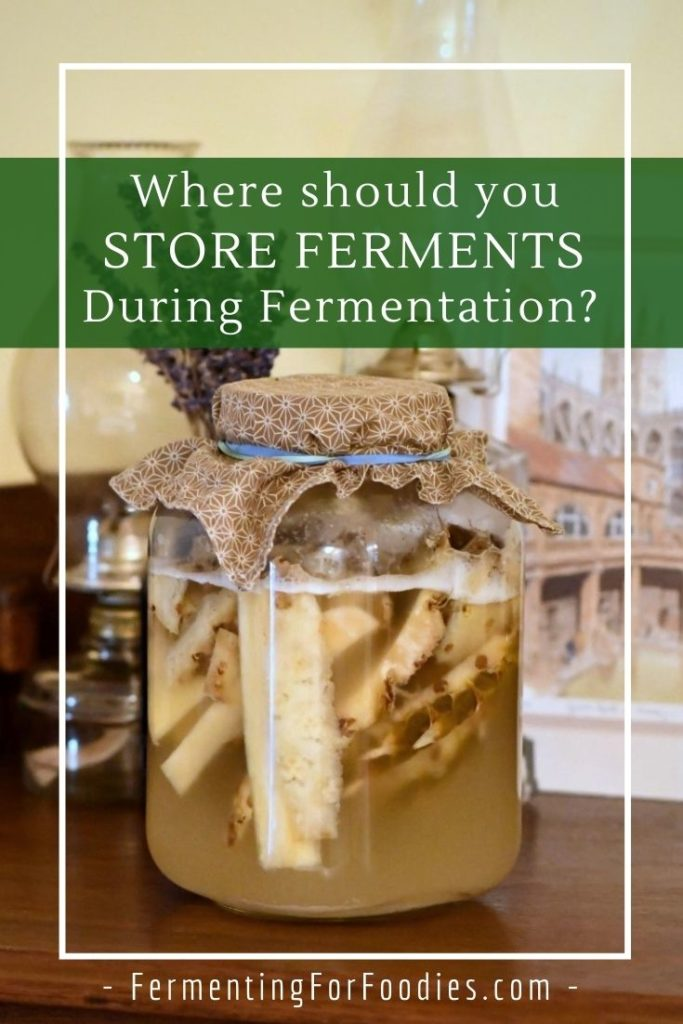Where should you store ferments if you don't have a garage or basement. Practical solutions for urban homes