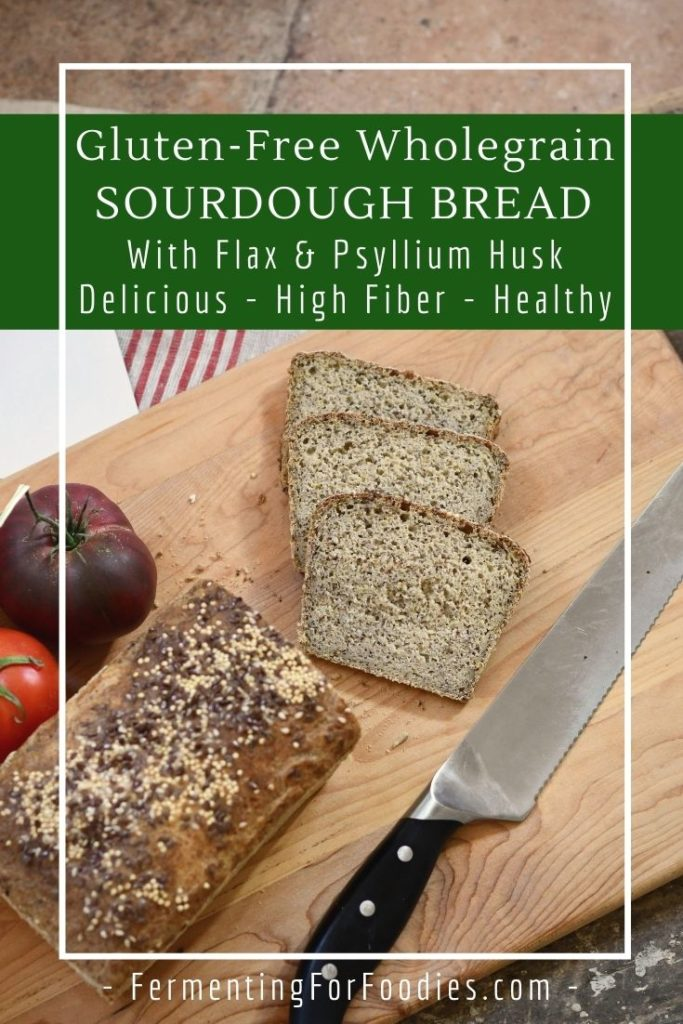 A 100% whole grain gluten-free sandwich bread with flax and psyllium husk