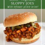 Vegan lentil sloppy joes are a healthy, vegetable packed dinner.